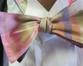 Dupioni Silk Plaid Bow Tie and Cummerbund Set