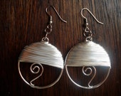 Wire Wrapped Large Hoop Earrings