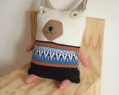 Knitted Lambswool Big Dog cushion