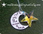 Love You to the Moon and Back with Swarvoski Star Pendant