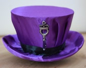 Purple Mini Steampunk Hat