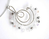 GALASSIA - Galaxy Crochet Wire Wrapped Czech Crystal Silver Aluminum Silver Wire Fashion Necklace
