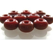 FREE SHIP - Glass Lampwork Beads sra Red Roof Tile SPACER Shop