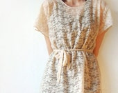 Romantic Days - Beige Lace tunic - loose blouse - MADE TO ORDER lace top, ivory lace blouse, shirt