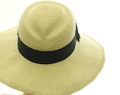 Summer Hat - Wide Brim Hat for Women Valentine Grueso Straw Sun Hat - Size Large - TheMillineryShop