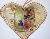 Romantic Roses Heart  Sachet