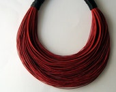 Black and red  statement necklace Spring - Summer collection