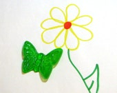Green Butterfly Soap- Bitty Butterfly, Unscented, Green -Single Mini Glycerin Novelty Soap Sample