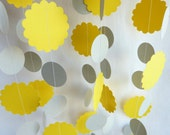 Sunshine Garland, Bright Yellow and Gray, 10' - FabulouslyHomemade