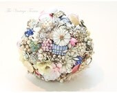 Custom Bridal Country Vintage Brooch Bouquet - TheVintageTexan