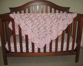 "Pink ""Exquisite"" Baby Afghan"