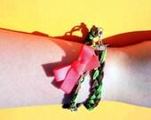 Nicole Braided Wrap Charm Bracelet
