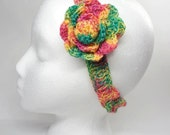Crochet  Headband Spring Colors