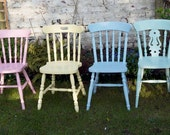 Instant shabby chic mismatch dining chair set please contact me before buying to choose colours finish and chair styles - emilyrosev