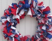 Patriotic Rag Wreath