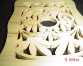 Wood Trivet to use as coaster, candle holder, wall tag or whatever