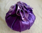 Lavender and Purple Decorative Rosette Pillow