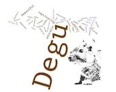 Degu Word Art Poem Print