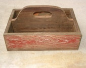 PRIMITIVE HAND MADE BARN WOOD TOTE