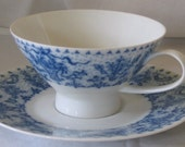 Rosenthal China TEA CUP Blue Birds teacup cup and saucer