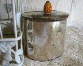 Vintage, Silver Hinged Container, Shabby Chic, Paris Apartment, Cigarette Holder