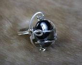 SZ 10  Ring Hematite 18g Sterling Silver Wire