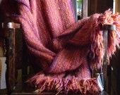 handwoven wool wrap ..The Lava Flow