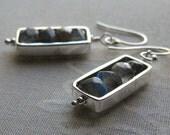 Framed Labradorite Earrings