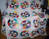Colorful Round Robin Quilt Top