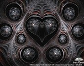 Tin Man's Heart - abstract fractal art print - 8x10 inches matte or metallic finish