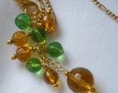 Green and Gold School Spirit Necklace