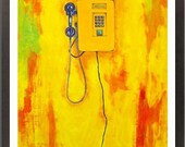 Yellow Telephone - Acrylic Painting