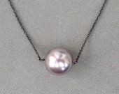 Indie pendant mauve pearl - MADE TO ORDER.
