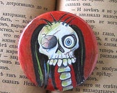 Handsome George - Skeleton - 2 1/4 inch Pocket Mirror