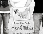Holding Hands Save the Date Custom Photo Announcement