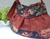 OLD ROSE GORGEOUS  CHENILE AND TAPESTRY  BAG.....
