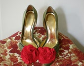 B. Poetic Shoe Clips in Red