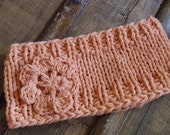 Sale---Knitted salmon headband---Sale