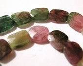 SALE --- Faceted Watermelon Tourmaline 15x18th 2pc