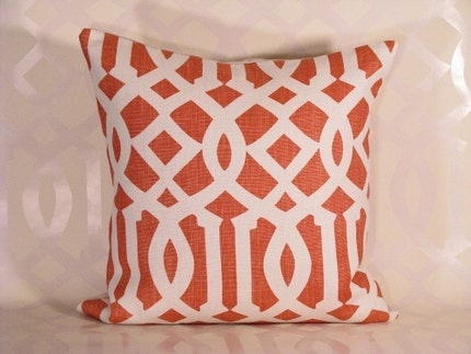 Kelly Wearstler Imperial Trellis Pillow - Mandarin
