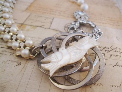 Love Birds...a Brides Necklace
