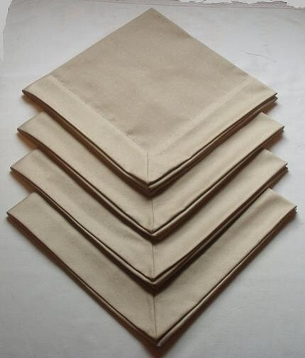 Tan Tailored Dinner Napkins (Set of 8)