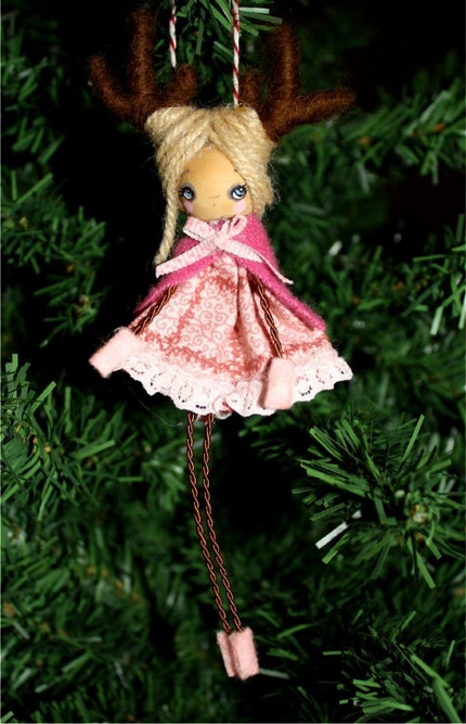 Dainty Deer---Wooden Handmade Tree Ornament