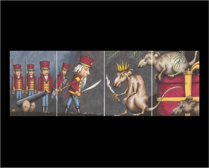 ACEO Print Set - The Nutcracker - (4 ACEOs)  by Artist TommyD