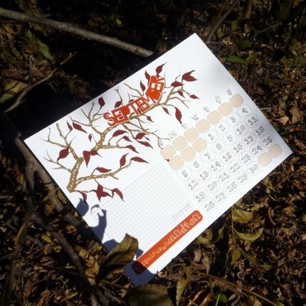 2010 Illustrated Branch Calendar by theRasilisk on Etsy
