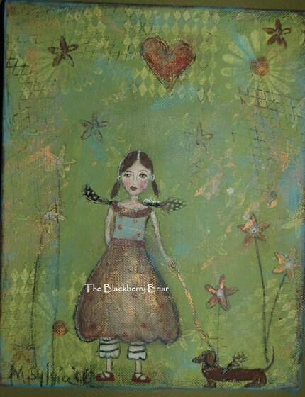 Courage FINE ART PRINT  by Artist Michelle Sylvia  The Blackberry Briar