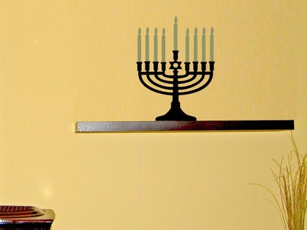 Menorah - vinyl wall art decal sticker cling