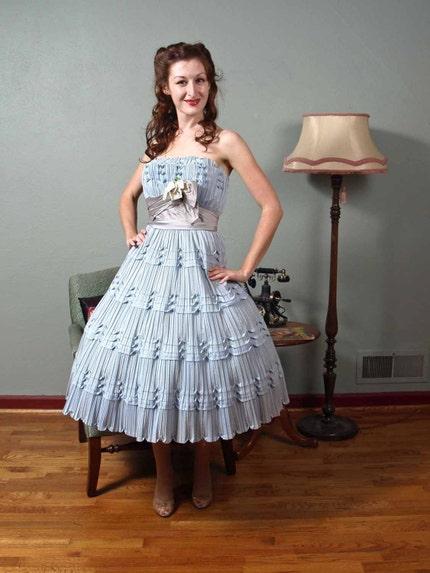soft blue dress