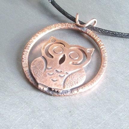 Copper Owl Pendant