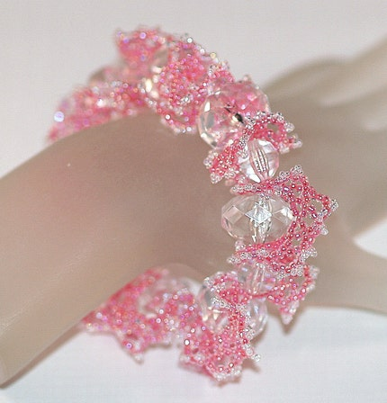 Princessa - Frilly Feminine Pink Bracelet (3116)